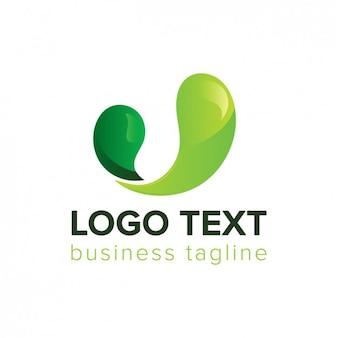 Abstract green wave logo