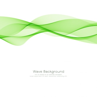 Abstract green wave modern background