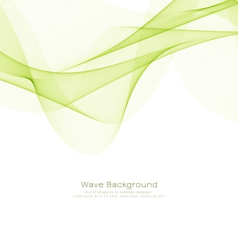 Abstract green wave stylish background
