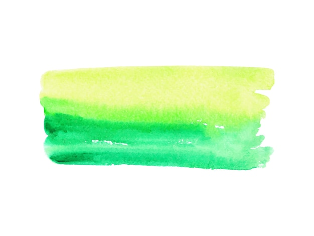 Abstract green and yellow watercolor on white background.