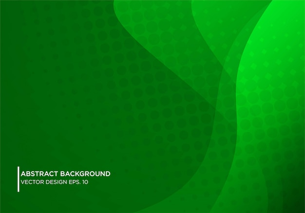 Abstract gren background design with modern shape concpet