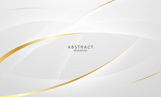 Абстрактный серый и золотой фон с динамическими волнами. технологическая сеть.