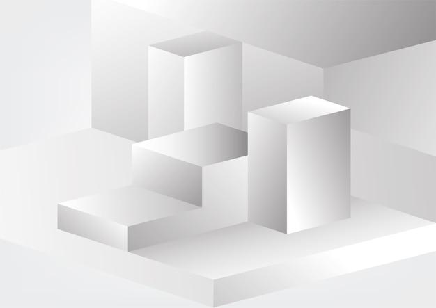Абстрактный серый и белый технический геометрический фон корпоративного дизайна
