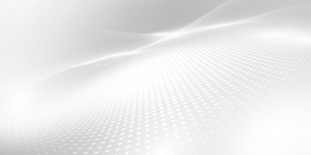 ダイナミックな抽象的な灰色の背景ポスター。テクノロジーネットワーク