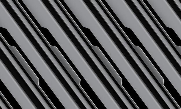 抽象的な灰色の黒い回路サイバー幾何学的な線は、現代の未来的な技術の背景をスラッシュします