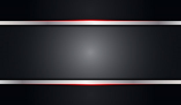 Abstract grey black metallic background with red shiny line