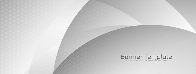Abstract grey color decorative minimal wave banner