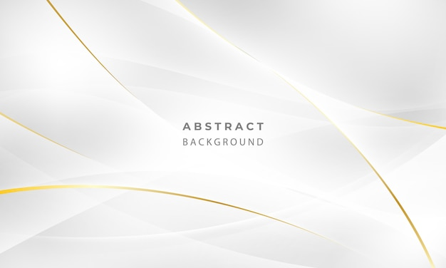 Abstract grey and gold background poster with dynamic waves. technology network   illustration.