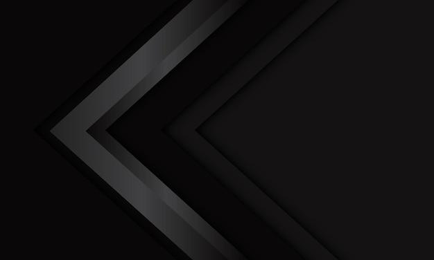 空白のスペースデザイン現代の未来的な技術の背景を持つ抽象的な灰色の金属の矢印