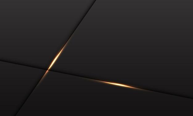 黒にゴールドライトクロスと抽象的な灰色のメタリック背景