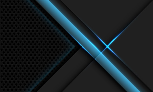 Abstract grey metallic overlap blue light circle mesh design modern luxury futuristic technology