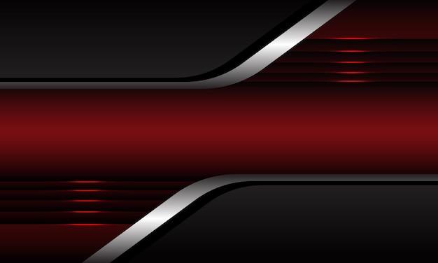 抽象的な灰色の銀の幾何学的な赤いメタリックモダンで豪華な未来的な背景