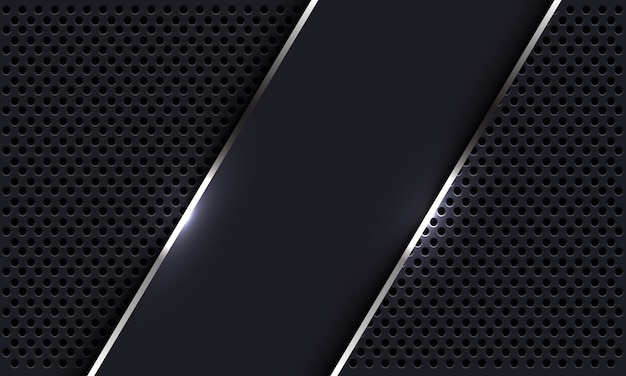 원 메쉬 디자인 현대 럭셔리 미래 배경에 추상 회색 실버 라인 배너 오버랩.