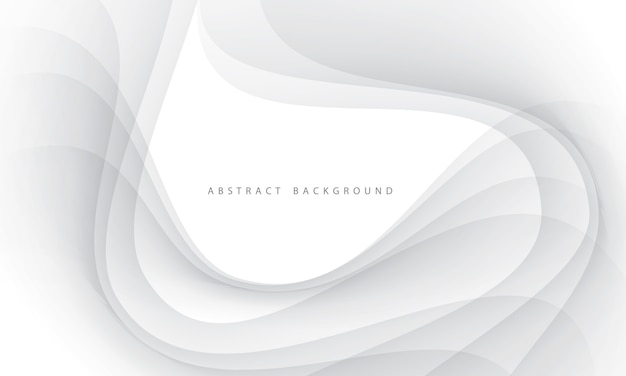 Abstract grey smooth wave curve smoke text white blank space background.