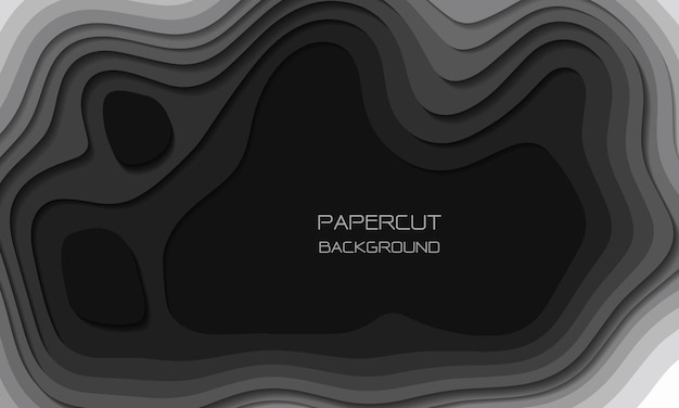 Абстрактные серые тона бумаги вырезать слои перекрывают художественный фон