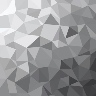 抽象的な灰色のトーンの三角形の低ポリゴン幾何学的テクスチャイラスト