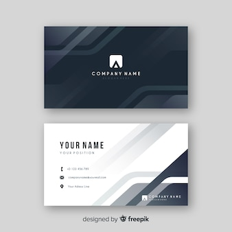 Abstract grey visiting card with logo