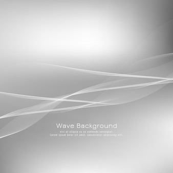 Abstract grey wave background design