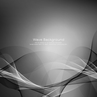 Abstract grey wave elegant background