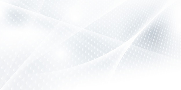 Abstract grey white background with dynamic waves. technology