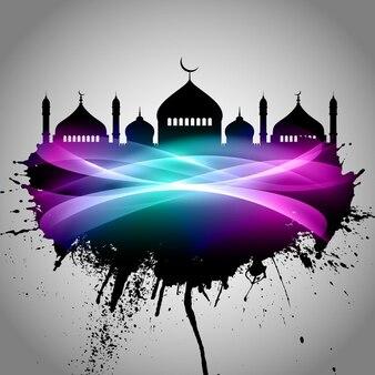 Abstract background grunge per eid mubarak
