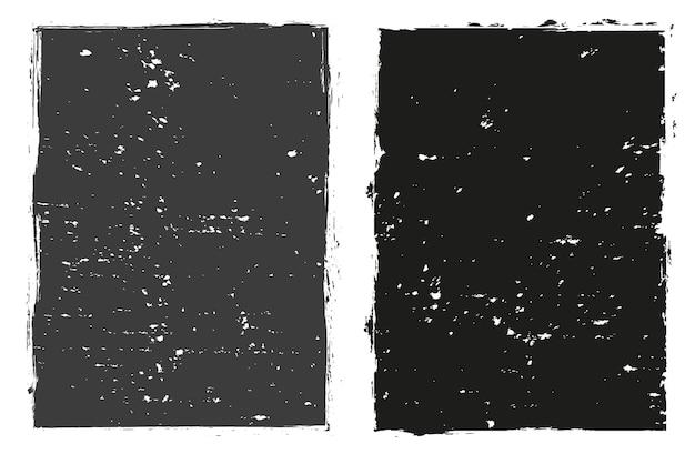 Abstract grunge black frames