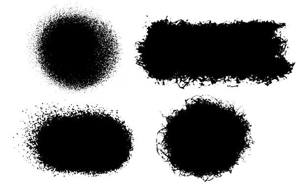 抽象的なグランジブラシストロークの背景