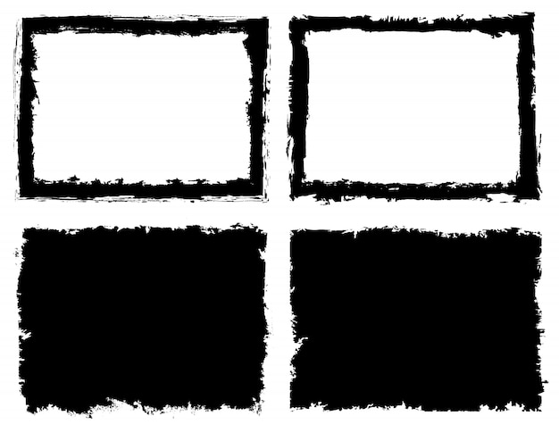 抽象的なグランジフレーム