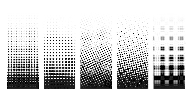 Abstract grunge halftone distorted shapes background design