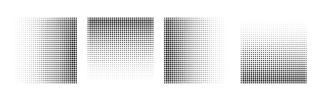 Abstract grunge halftone square shapes background design vector