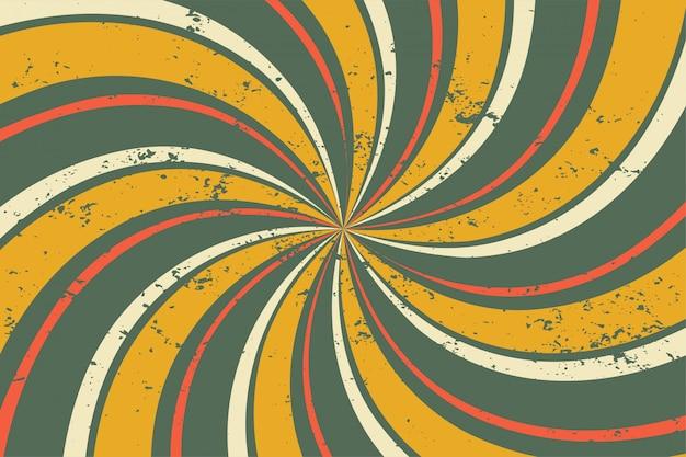 抽象的なグランジレトロな渦巻きスパイラルラインパターン