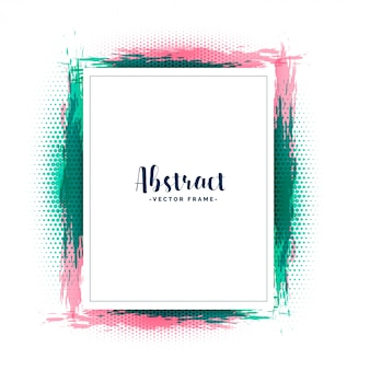 Abstract grunge style frame design