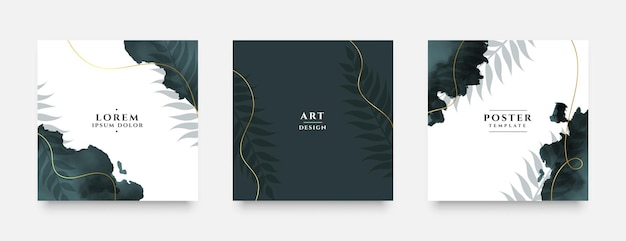 Abstract grunge template for social media invitation