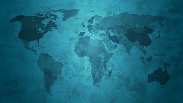 Abstract grunge world map background.