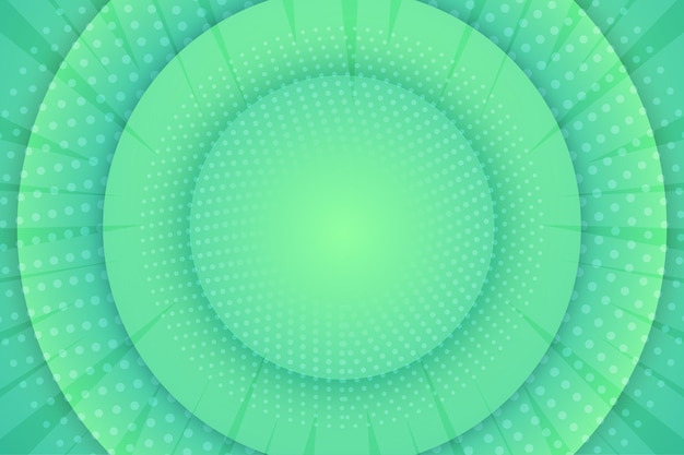 Abstract halftone background circular green