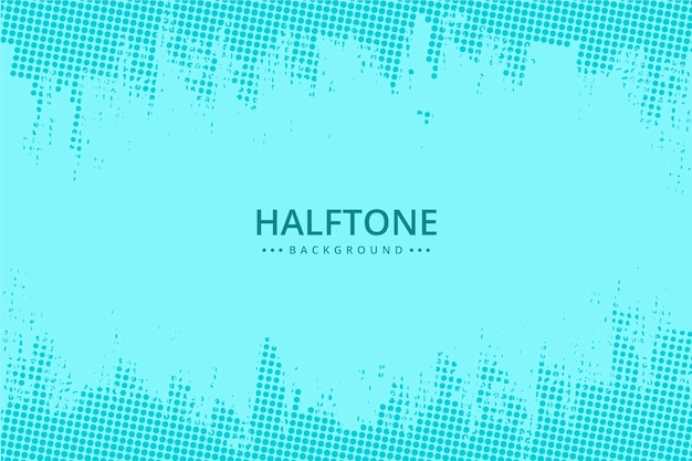 Abstract halftone background light blue tones