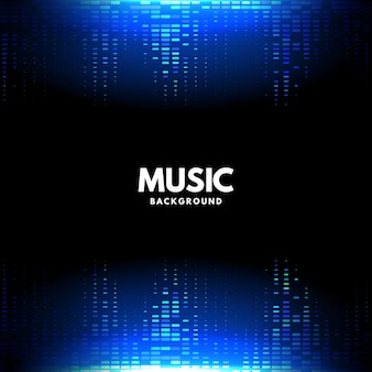 Abstract halftone background for music