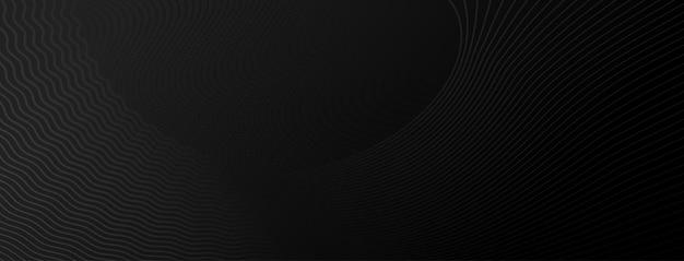 Абстрактный полутоновый фон из маленьких точек и волнистых линий в серых и черных тонах
