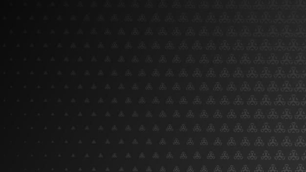 黒い色の小さなシンボルの抽象的なハーフトーンの背景