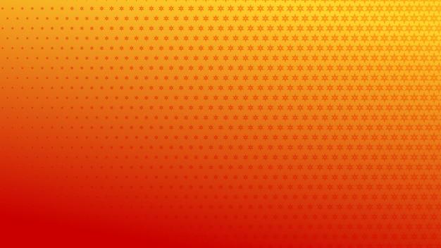 赤とオレンジ色の小さなシンボルの抽象的なハーフトーンの背景