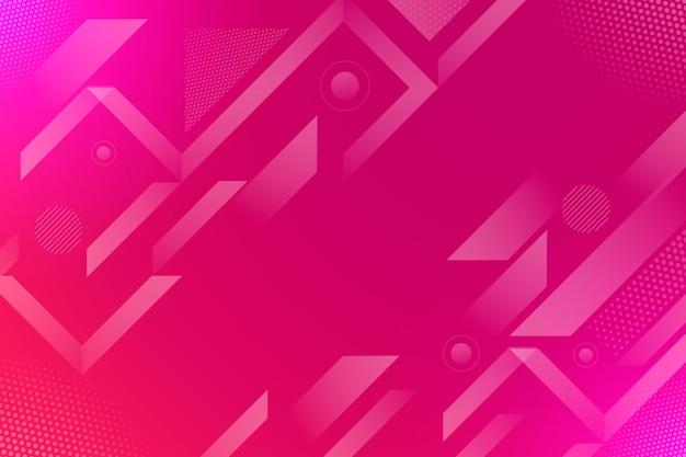 抽象的なハーフトーンの背景の赤とピンクのライン