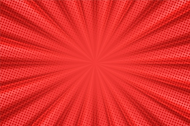 Abstract halftone background red lines