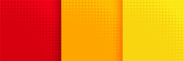 Abstract halftone background set in red orange and yellow color