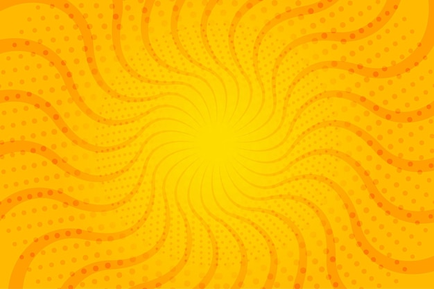 Abstract halftone background wavy sun rays