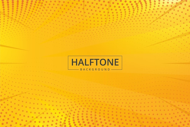 Abstract halftone background yellow shades