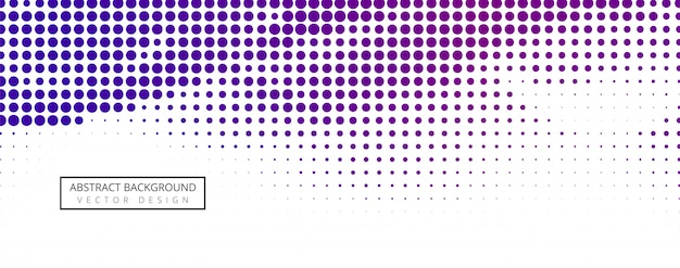 Abstract halftone banner design