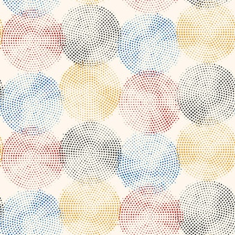 Абстрактные полутоновые круги бесшовные модели