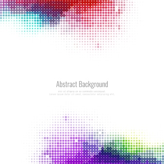 Abstract halftone colorful background