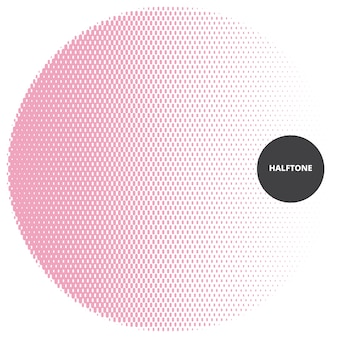 Abstract halftone design element, on white background