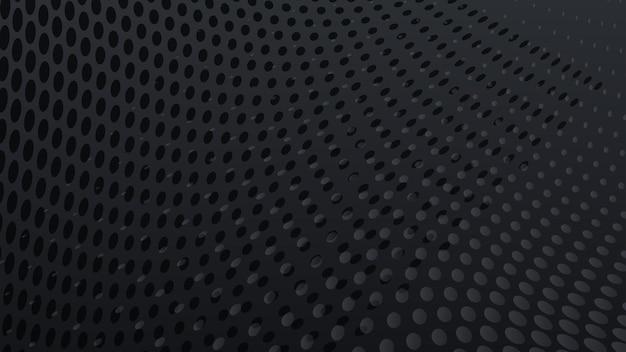 黒い色の抽象的なハーフトーンドットの背景
